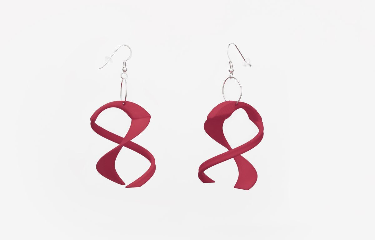 Tango Earrings, 3D Printed Resin
