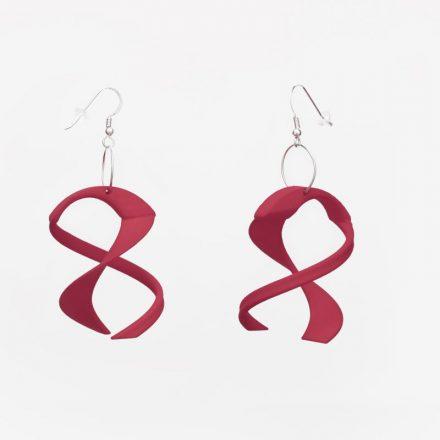 Tango Earrings, 3D Printed Resin