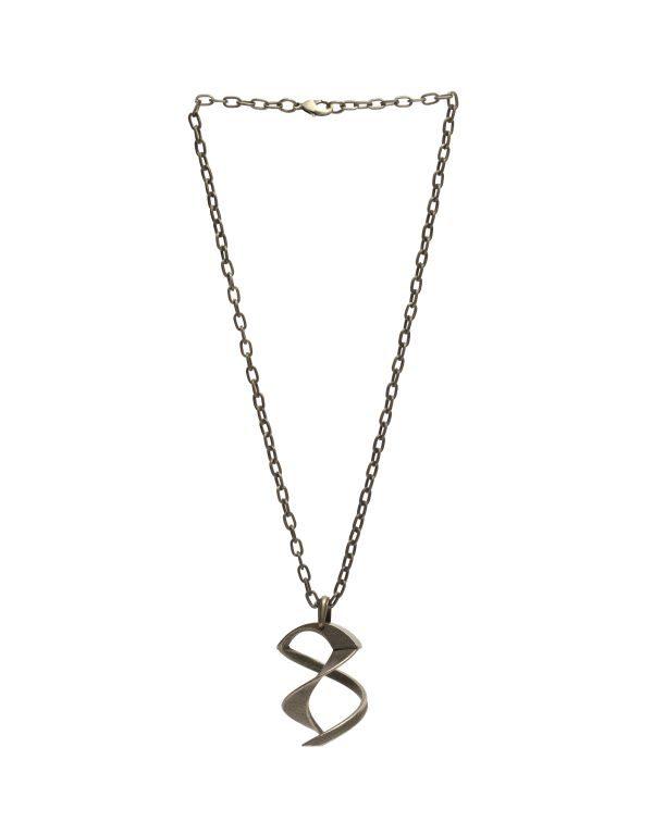 Tango Necklace, 3D Printed Bronze Steel