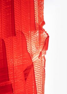 A close up of Ruby, a 3D printed fine art sculpture - Kevin Caron