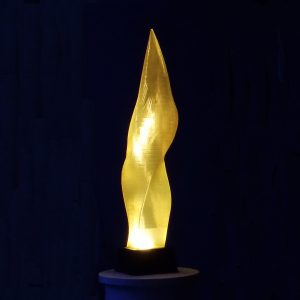 Lemon Wisp, a 3D printed fine art sculpture - Kevin Caron