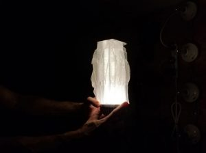 Lighting a 3D printed sculpture test - Kevin Caron