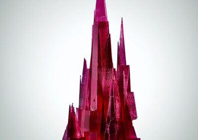 Amethyst City, a 3D printed contemporary art sculpture - Kevin Caron
