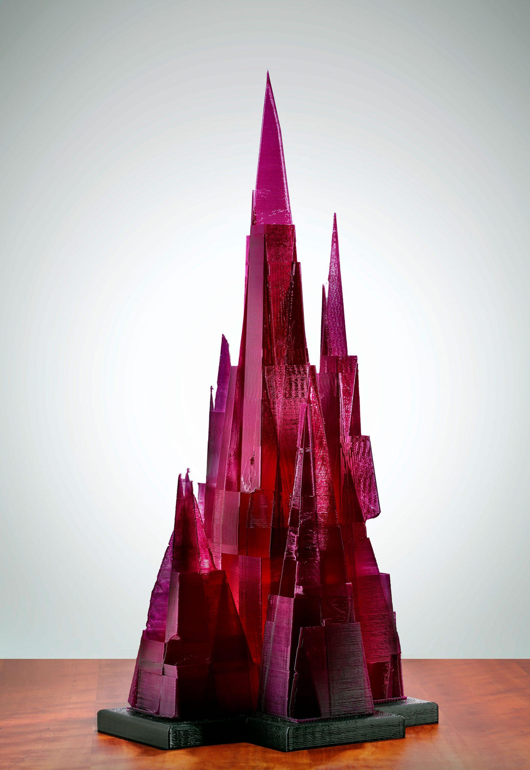 Amethyst City, a fine art 3D printed sculpture - Kevin Caron