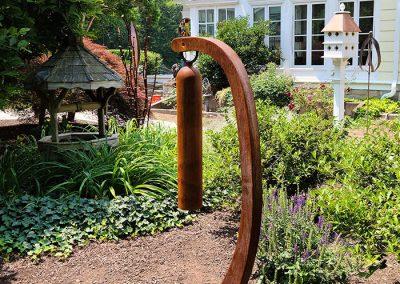 Belle, a sound sculpture now in a Connecticut garden - Kevin Caron