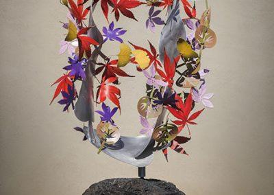Autumn Mobius, a kinetic botanical sculpture - Kevin Caron