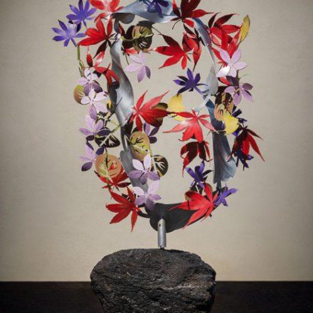 Autumn Mobius kinetic sculpture