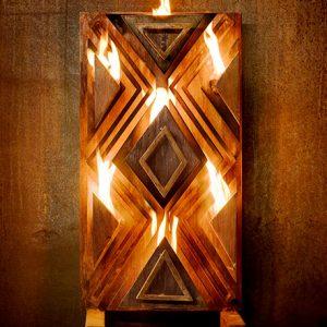 Woven Fire fireplace sculpture