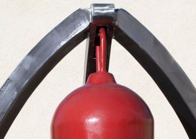 Big Ben, a steel sound sculpture designed by Kevin Caron - Kevin Caron