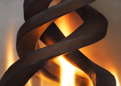 Blaze, steel fireplace sculpture designed by Kevin Caron - Kevin Caron