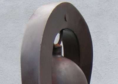 Bobbypin, a steel sound sculpture designed by Kevin Caron - Kevin Caron
