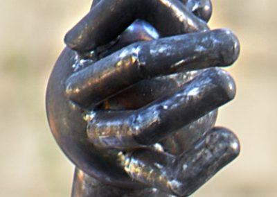 Bugman, a steel sculpture designed by Kevin Caron - Kevin Caron