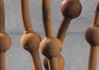 Cactus Caramia, a steel sculpture designed by Kevin Caron - Kevin Caron