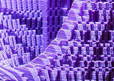 Purple Passion, a 3D printed sculpture designed by Kevin Caron - Kevin Caron