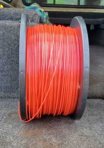A tangled 15-pound spool of PLA filament - Kevin Caron
