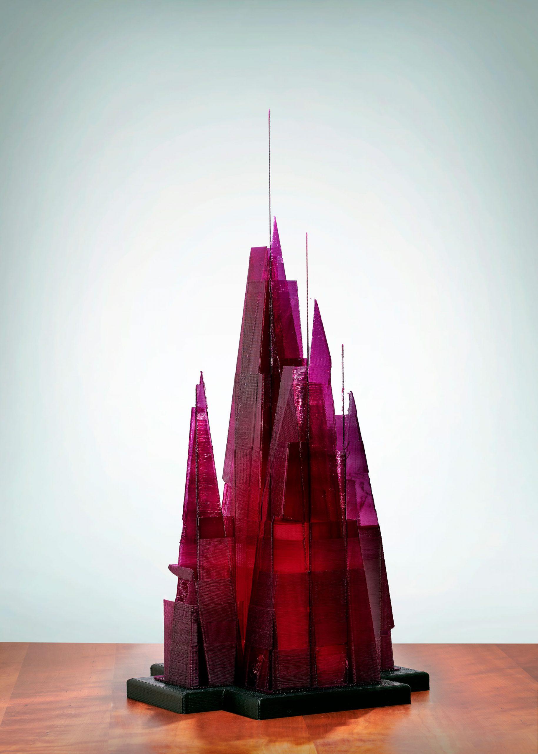 Amethyst City, a 3D printed sculpture - Kevin Caron